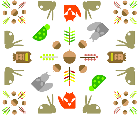 woodland fabric by lpowell729 on Spoonflower - custom fabric