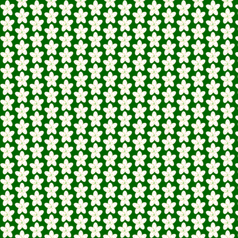 Small Holiday Floral on Green fabric by cksstudio80 on Spoonflower - custom fabric
