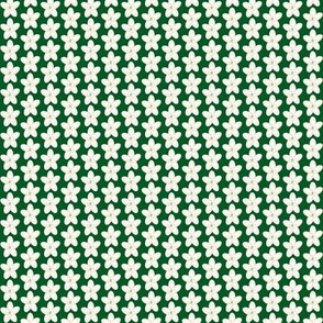 Small Holiday Floral on Green