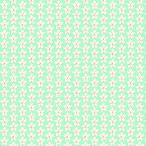 Song Sung Blue Floral Small fabric by cksstudio80 on Spoonflower - custom fabric