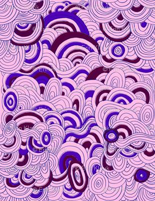Pink and Purple Swirly Sky