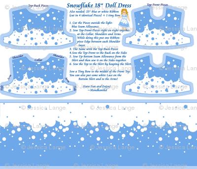 "Snowflake 18"" Doll Dress"