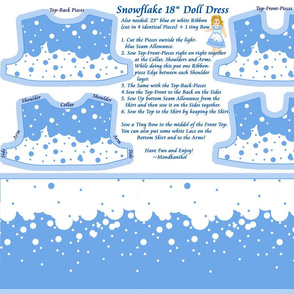 "Snowflake 18"" Doll Dress"