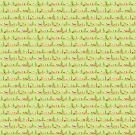 woodland animals fabric by littledear on Spoonflower - custom fabric