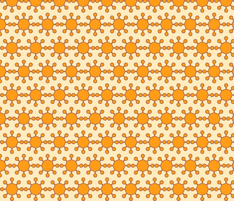 little_suns_sol_coral_and_cream fabric by holli_zollinger on Spoonflower - custom fabric