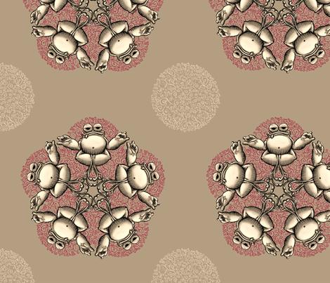 meditating frog fabric by raul on Spoonflower - custom fabric