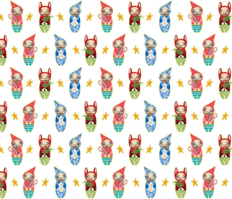 Holiday Imps | WHITE fabric by shelliquinn on Spoonflower - custom fabric