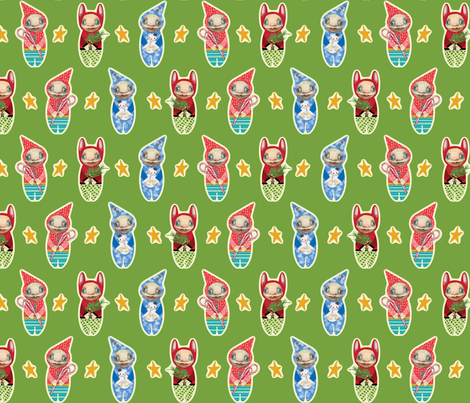 Holiday Imps | LIME fabric by shelliquinn on Spoonflower - custom fabric
