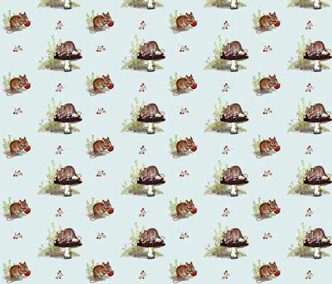 Woodland Mice  fabric by hauteideas on Spoonflower - custom fabric
