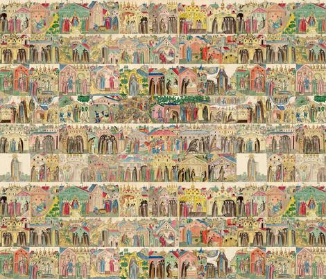 Life of St. Sergey Radonezhsky fabric by quinnanya on Spoonflower - custom fabric
