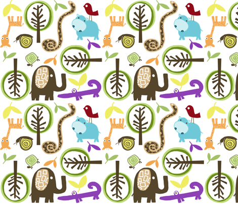 animal madness fabric by emilyb123 on Spoonflower - custom fabric