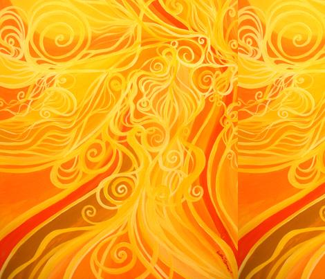 Solar flair fabric by heatherpeterman on Spoonflower - custom fabric