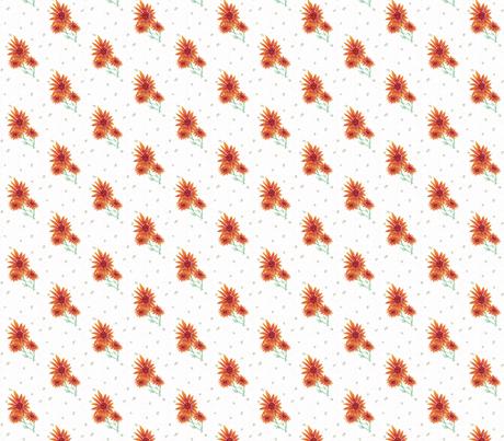 backyard flower cluster fabric by luluhoo on Spoonflower - custom fabric