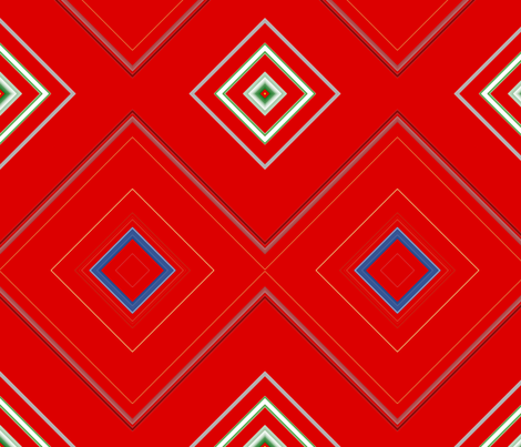 Red_Diamond_Geometric Pattern fabric by charldia on Spoonflower - custom fabric