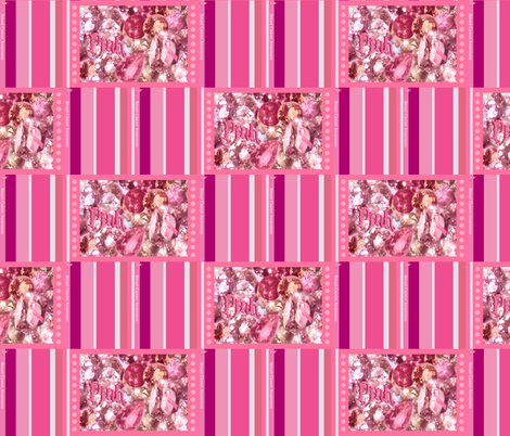 Pink ribbon fabric by paragonstudios on Spoonflower - custom fabric
