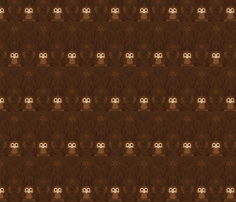 Brown Owl fabric by marimuraro on Spoonflower - custom fabric