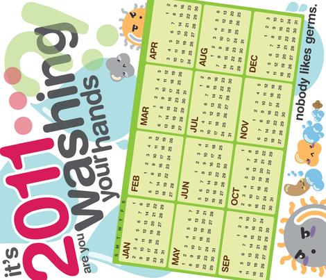 2011 Germ Calendar fabric by mayenedesign on Spoonflower - custom fabric