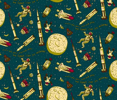 Space! fabric by 1stpancake on Spoonflower - custom fabric