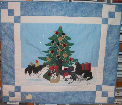 Xmas 13x10 Husky Christmas Tree LAB