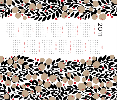 garland calendar towel [contest version] fabric by monmeehan on Spoonflower - custom fabric