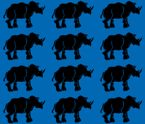 Black Rhino fabric by bad_penny on Spoonflower - custom fabric