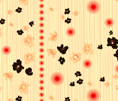 spotted blooms full fabric by fiona_mcdonald_juicyapple on Spoonflower - custom fabric