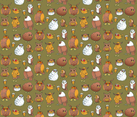 Owls fabric by jadegordon on Spoonflower - custom fabric