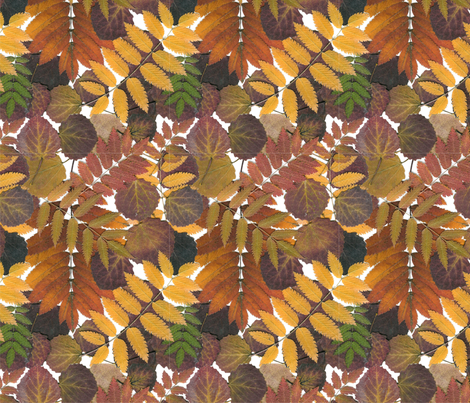 autumn_leaves_repeat fabric by hevilja on Spoonflower - custom fabric