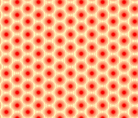 spotted blooms red cartwheels small fabric by fiona_mcdonald_juicyapple on Spoonflower - custom fabric