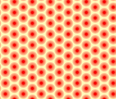 spotted blooms red cartwheels small simple fabric by fiona_mcdonald_juicyapple on Spoonflower - custom fabric