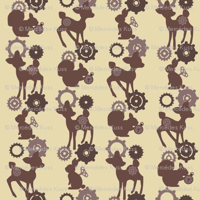 My Mechanical woodland - Brown
