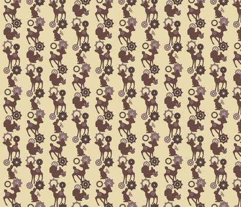 My Mechanical woodland - Brown fabric by mezzo on Spoonflower - custom fabric