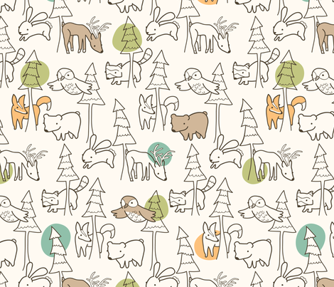 A Walk in the Woods fabric by auki on Spoonflower - custom fabric