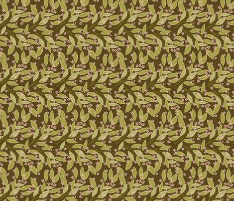 eucalyptus_brown2 fabric by cindylindgren on Spoonflower - custom fabric