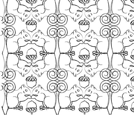 acornysquirrell fabric by divadrea75 on Spoonflower - custom fabric