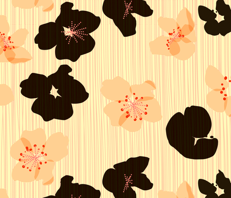 spotted blooms xlarge fabric by fiona_mcdonald_juicyapple on Spoonflower - custom fabric