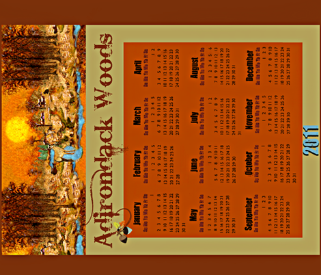Adirondack Woods calender fabric by paragonstudios on Spoonflower - custom fabric