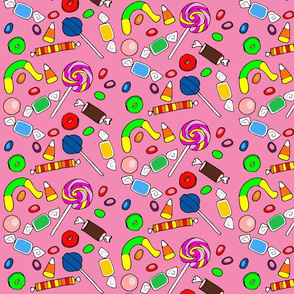 candy on pink background-ch
