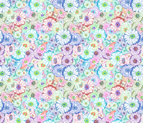 zinnias_copy fabric by wolfie_and_the_sneak on Spoonflower - custom fabric