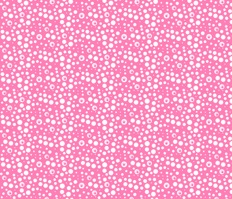 SMALL Pink & White Pawfect Dots fabric by kiniart on Spoonflower - custom fabric