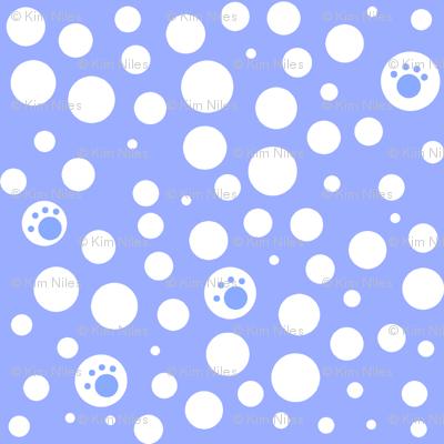 SMALL Blue & White Pawfect Dots