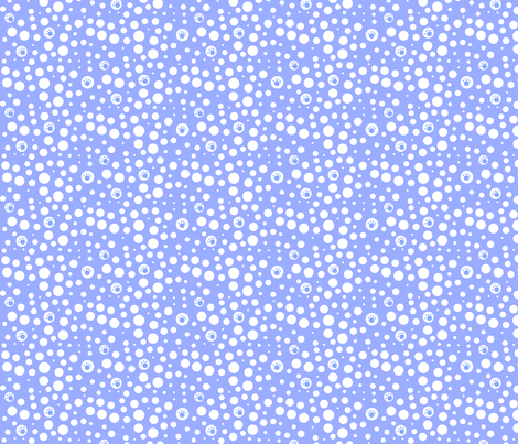 SMALL Blue & White Pawfect Dots fabric by kiniart on Spoonflower - custom fabric