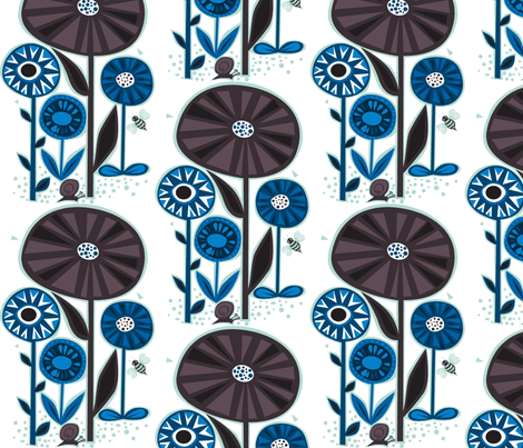 large_wildflowers fabric by antoniamanda on Spoonflower - custom fabric