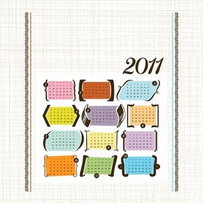 Smaller Parenthesis & Brackets / 2011 Tea Towel Calendar