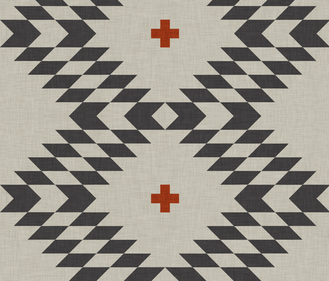 native natural orange large fabric by holli_zollinger on Spoonflower - custom fabric