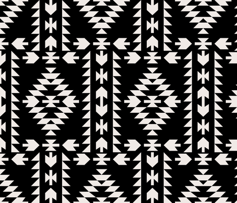 native panel broken reversed fabric by holli_zollinger on Spoonflower - custom fabric