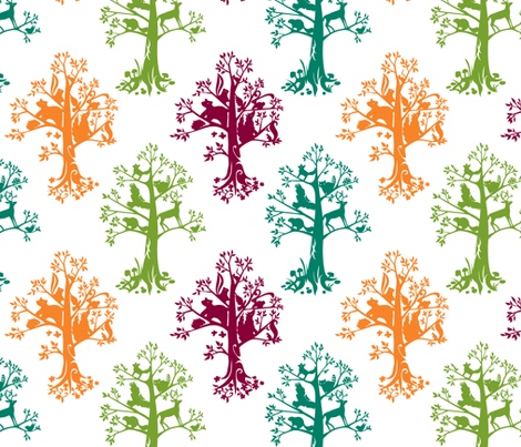 Forest Spirits fabric by jillianmorris on Spoonflower - custom fabric