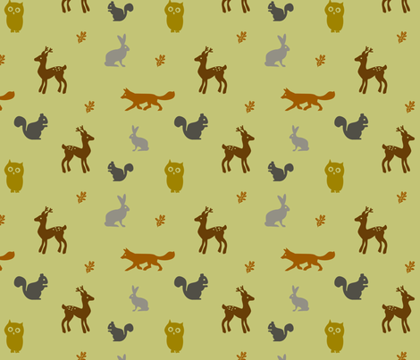 Woodland Frolic fabric by jenimp on Spoonflower - custom fabric