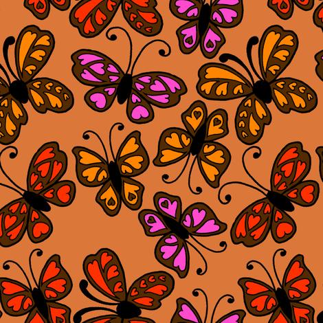 Butterflies 2 fabric by jadegordon on Spoonflower - custom fabric