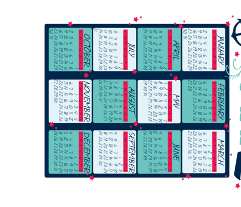 sailor-towel-calendar fabric by nlbaas on Spoonflower - custom fabric